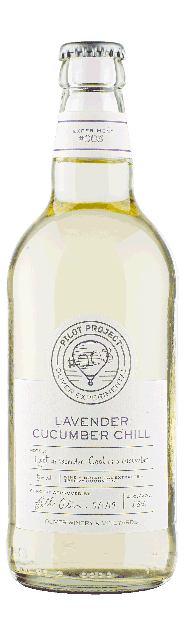Oliver Winery Pilot Project Lavender Cucumber Chill