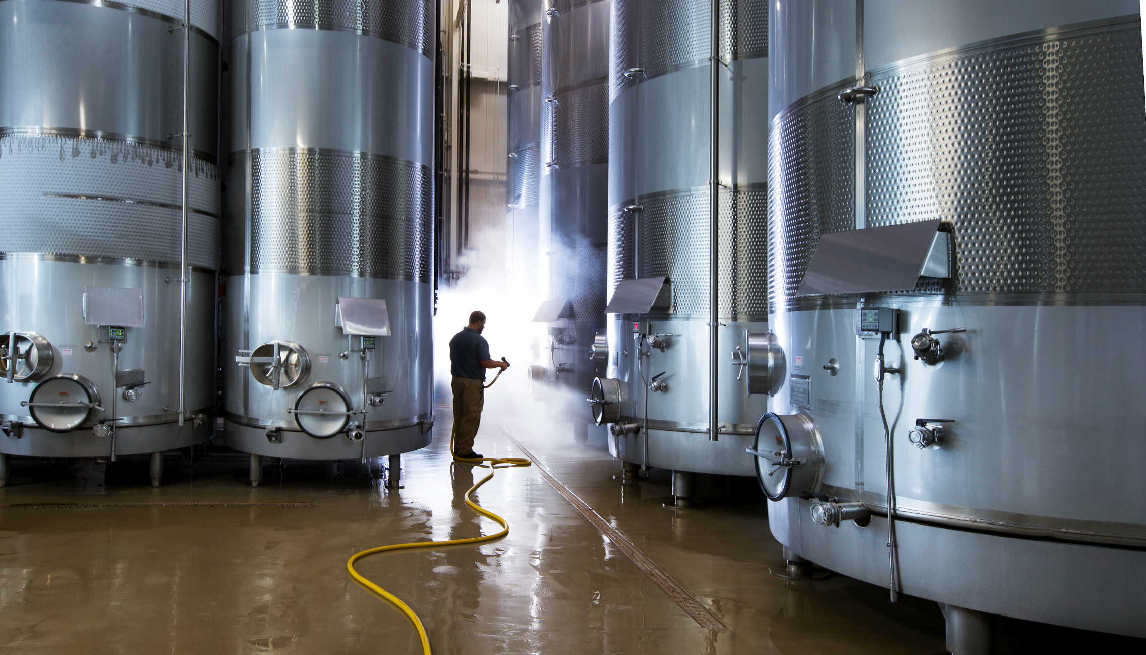 Cleaning is a critical part of quality winemaking.