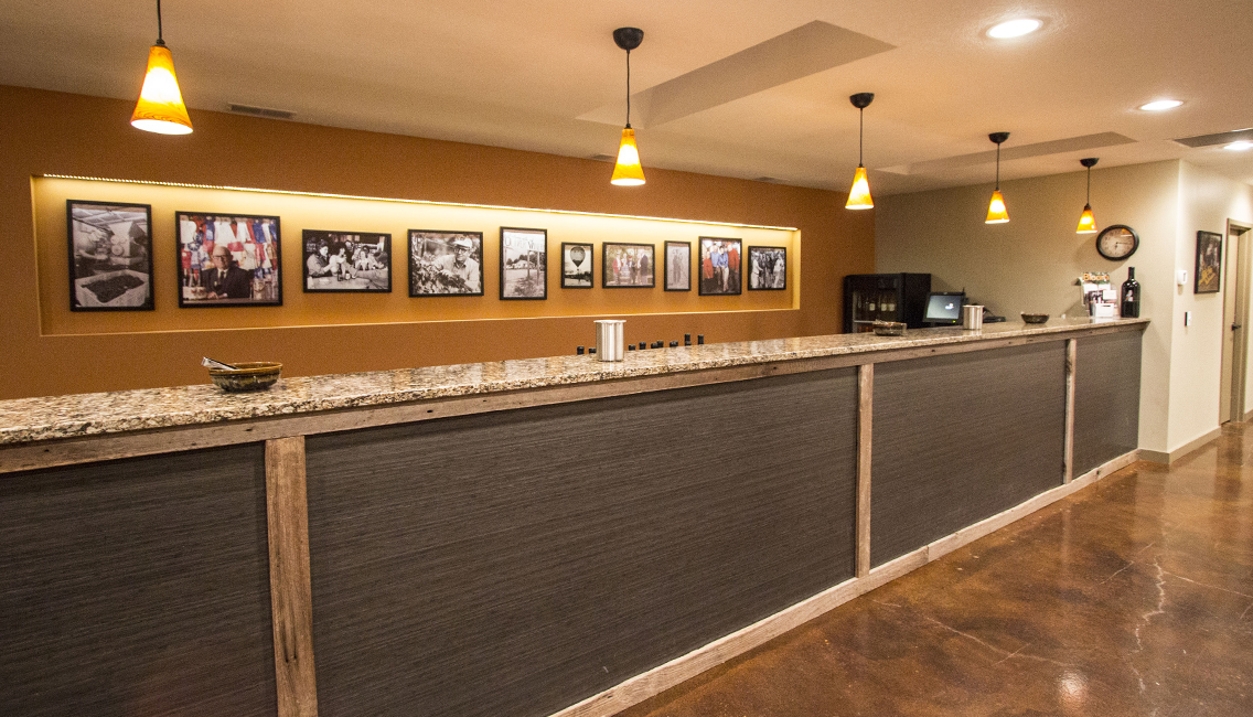 The bar in our original tasting room space.