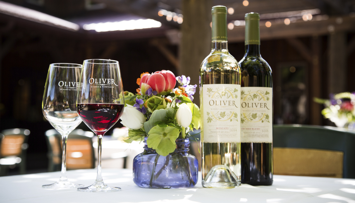 Oliver wines for food pairing at your event.