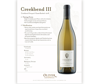 Creekbend III from Oliver Winery