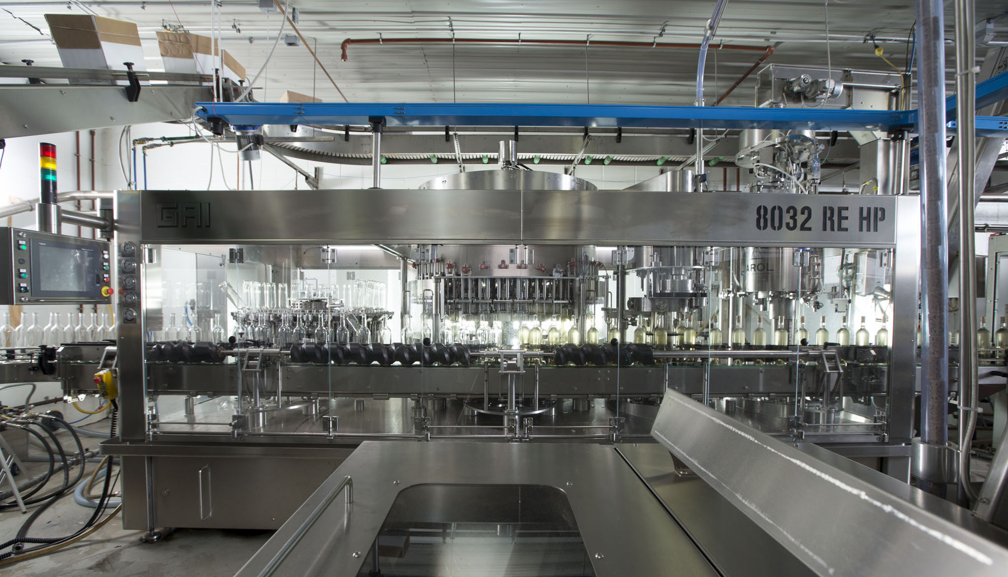 Oliver Winery's state-of-the-art bottling line