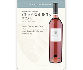 Chambourcin Rosé On-Premise Table Tent