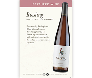 Riesling On-Premise Table Tent