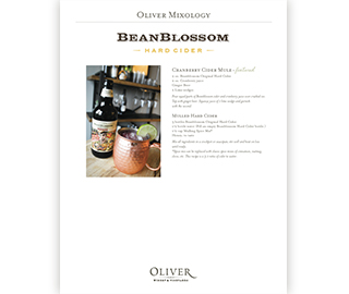 Beanblossom Hard Cider Cocktail Recipes