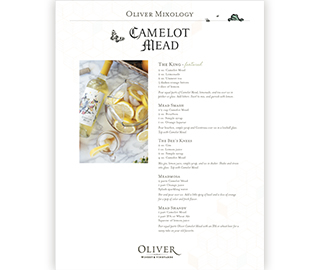 Camelot Mead Cocktail Recipes