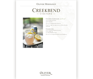 Creekbend Cocktail Recipes